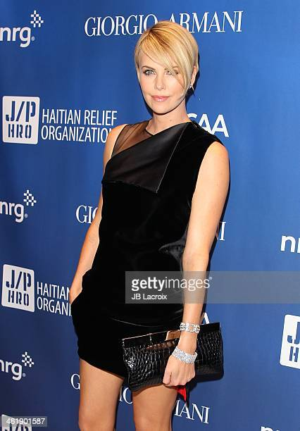 Charlize Theron attends the Sean Penn 3rd Annual Help Haiti Home Gala Benefiting J/P HRO Presented By Giorgio Armani at Montage Beverly Hills on...