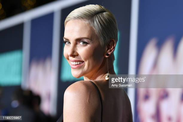 Charlize Theron attends the special screening of Liongate's Bombshell at Regency Village Theatre on December 10 2019 in Westwood California