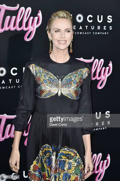 Charlize Theron attends the 'Tully' Los Angeles Premiere on April 18 2018 in Los Angeles California