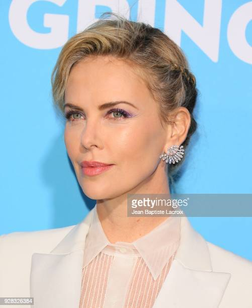 Charlize Theron attends the world premiere of 'Gringo' from Amazon Studios and STX Films at Regal LA Live Stadium 14 on March 6 2018 in Los Angeles...