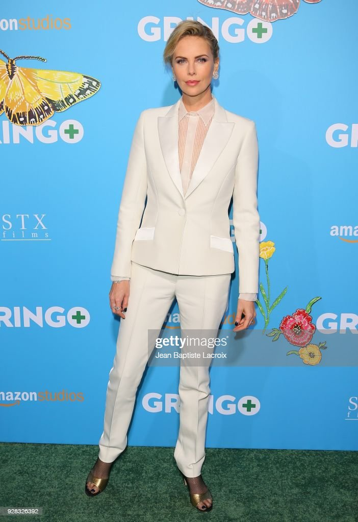 Charlize Theron attends the world premiere of 'Gringo' from Amazon Studios and STX Films at Regal LA Live Stadium 14 on March 6, 2018 in Los Angeles, California.
