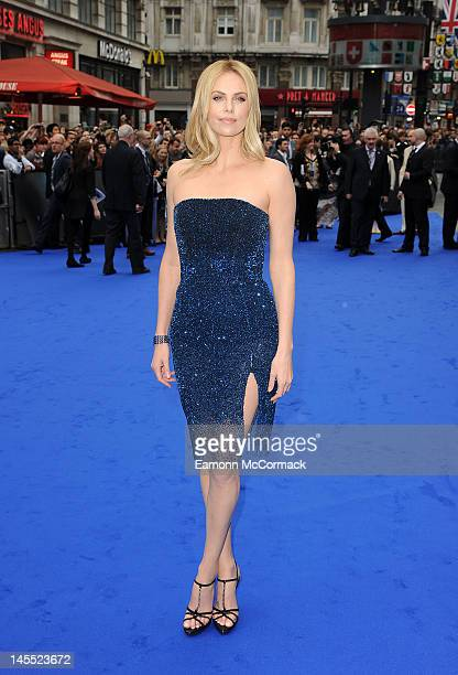 Charlize Theron attends the world premiere of Prometheus at Empire Leicester Square on May 31, 2012 in London, England.