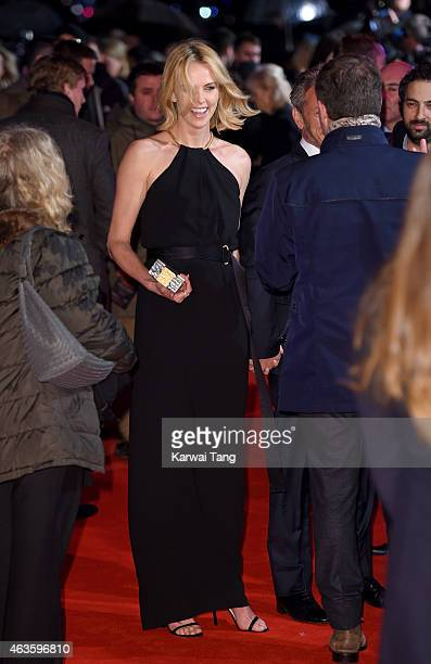 """Charlize Theron attends the World Premiere of """"The Gunman"""" at BFI Southbank on February 16, 2015 in London, England."""