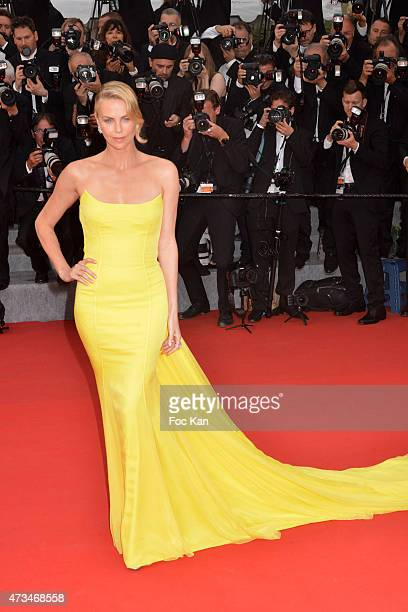 Charlize Theron attends the'Mad Max Fury Road' Premiere during the 68th annual Cannes Film Festival on May 14 2015 in Cannes France