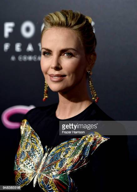 Charlize Theron atttends the Premiere Of Focus Features' 'Tully' at Regal LA Live Stadium 14 on April 18 2018 in Los Angeles California