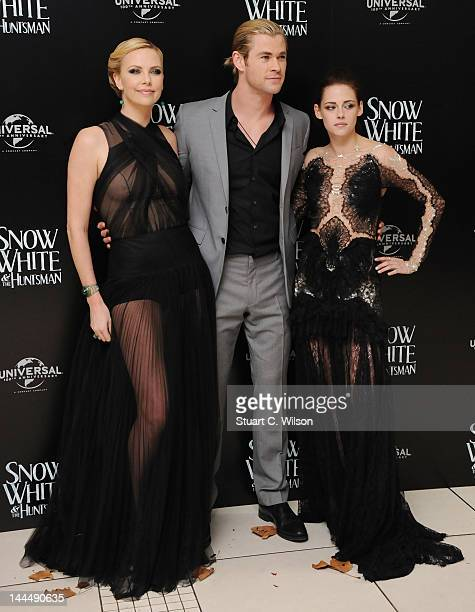 """Charlize Theron, Chris Hemsworth and Kristen Stewart attend the World Premiere of """"Snow White and The Huntsman"""" at Empire Leicester Square on May 14,..."""