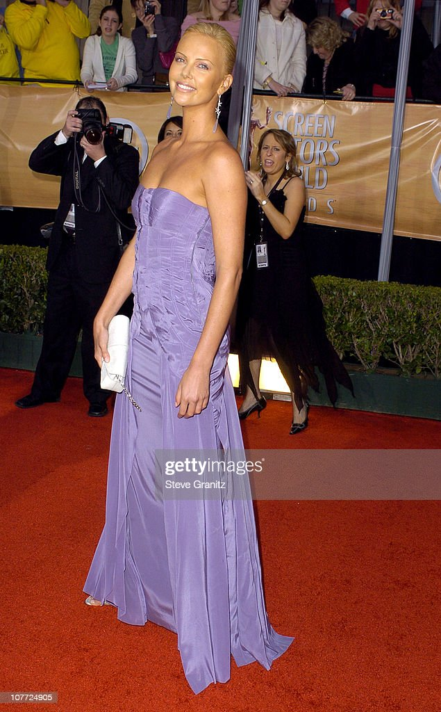 Charlize Theron during 10th Annual Screen Actors Guild Awards - Arrivals at Shrine Auditorium in Los Angeles, California, United States.