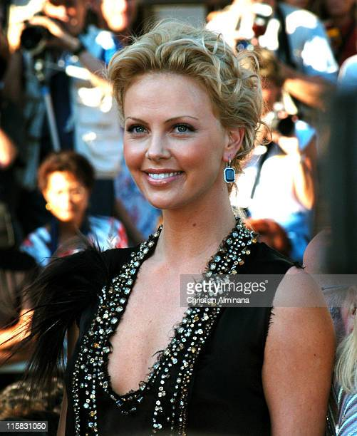 Charlize Theron during 2004 Cannes Film Festival The Life and Death of Peter Sellers Premiere in Cannes France