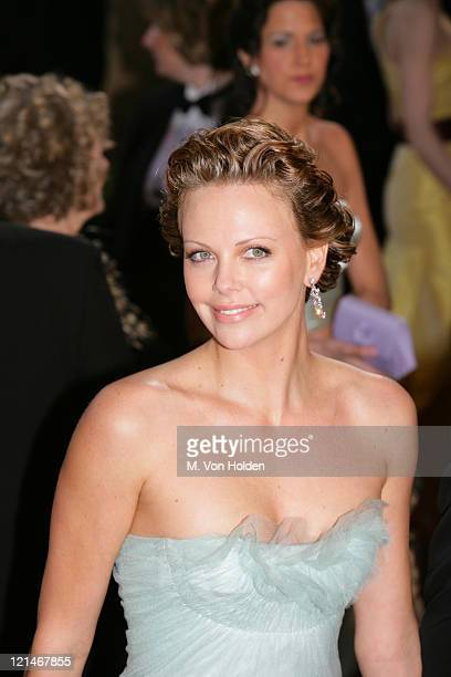 Charlize Theron during 77th Annual Academy Awards arrivals at Kodak Theater in Los Angeles California United States