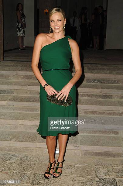 Charlize Theron during Gucci Spring 2006 Fashion Show to Benefit Children's Action Network and Westside Children's Center - Arrivals at Home of Eva...