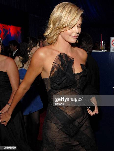 Charlize Theron during InStyle & Warner Bros. 2006 Golden Globes After Party - Inside at Beverly Hilton in Beverly Hills, California, United States.