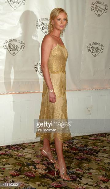 Charlize Theron during National Board of Review of Motion Pictures 2003 Annual Awards Gala at Tavern on the Green in New York City New York United...