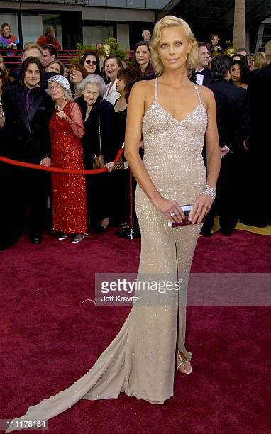 Charlize Theron during The 76th Annual Academy Awards - Arrivals by Jeff Kravitz at Kodak Theatre in Hollywood, California, United States.