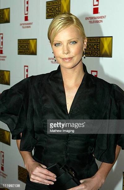 Charlize Theron during The 9th Annual Critics' Choice Awards Red Carpet at The Beverly Hills Hotel in Beverly Hills California United States