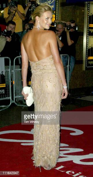 """Charlize Theron during """"The Italian Job"""" - London Premiere Outside Arrivals at Leicester Square in London, Great Britain."""