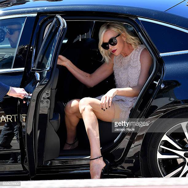 Charlize Theron is seen during the annual 69th Cannes Film Festival at on May 20 2016 in Cannes France