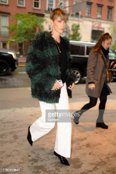 Charlize Theron is seen in Chelsea on October 20, 2019 in New York City.