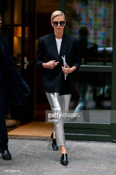 Charlize Theron is seen in SoHo on November 12 2019 in New York City