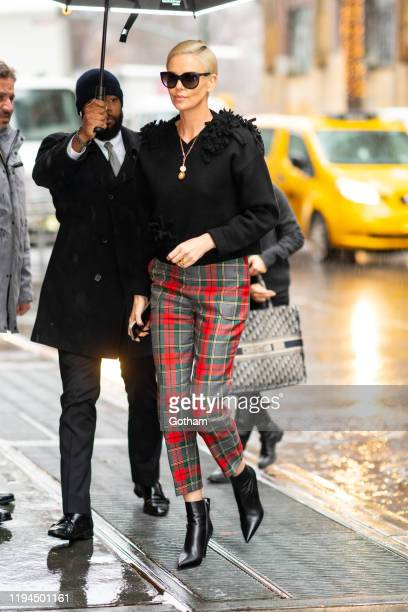 Charlize Theron is seen in the Upper West Side on December 17 2019 in New York City