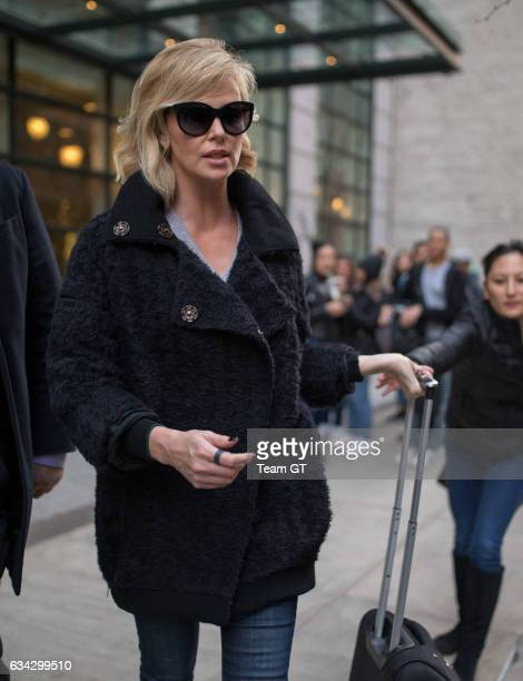 Charlize Theron is seen leaving her NYC hotel on February 8 2017 in New York City