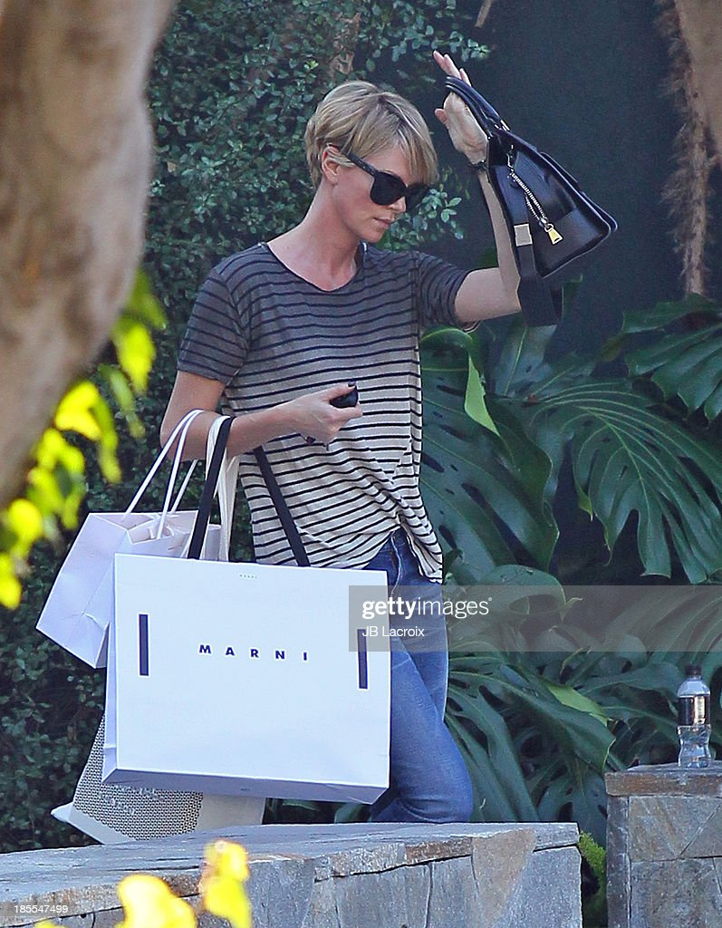 Charlize Theron is seen on October 21, 2013 in Los Angeles, California.
