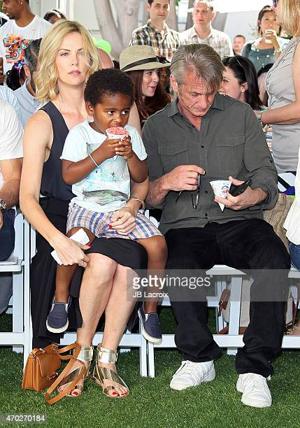 Charlize Theron Jackson Theron and Sean Penn attend the generationOn West Coast Block Party on April 18 2015 in Beverly Hills California