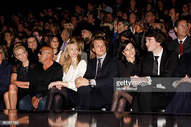 Charlize Theron Jean Baptiste Mondino Delphine Arnault Alessandro Vallarino Gancia Mylene Jampanoi and Antoine Arnault attend the Christian Dior...