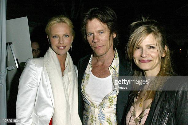 Charlize Theron Kevin Bacon and Kyra Sedgwick during Ian Schrager's Mondrian Hosts New Market's PreOscar Party with Charlize Theron and Keisha...