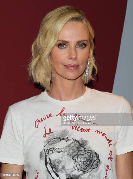 Charlize Theron poses during the double feature of Tully and Monster on November 01 2018 in Los Angeles California
