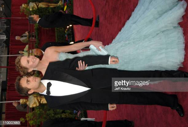 Charlize Theron presenter and Stuart Townsend during The 77th Annual Academy Awards Arrivals at Kodak Theatre in Los Angeles California United States