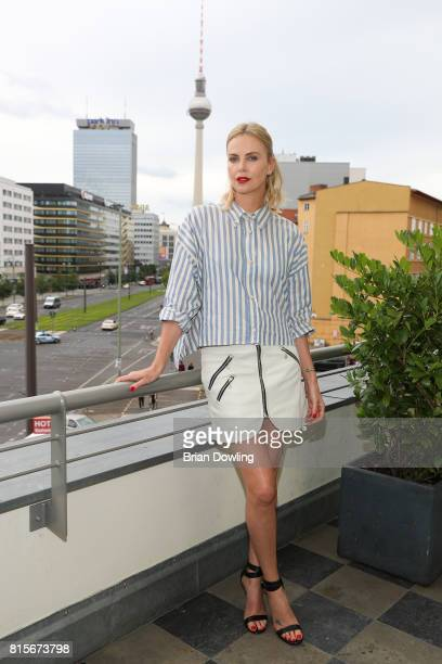 Charlize Theron promotes 'Atomic Blonde' in Berlin at Soho House on July 16 2017 in Berlin Germany