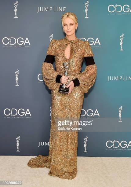 Charlize Theron recipient of the Spotlght award attends the 22nd CDGA at The Beverly Hilton Hotel on January 28 2020 in Beverly Hills California