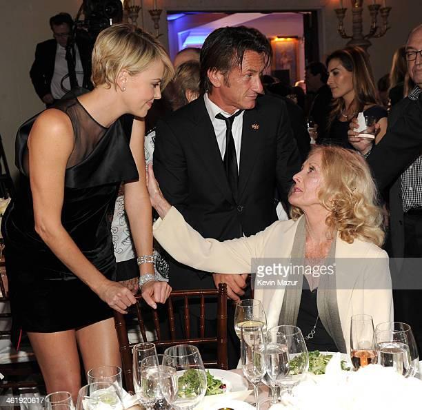 Charlize Theron Sean Penn and Eileen Ryan Penn attend the 3rd annual Sean Penn Friends HELP HAITI HOME Gala benefiting J/P HRO presented by Giorgio...
