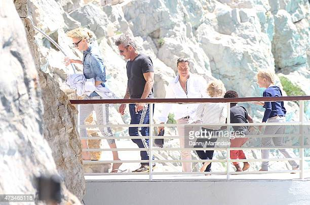 Charlize Theron Sean Pennn and Jackson Theron is seen at the Hotel du CapEdenRoc day 3 of the 68th annual Cannes Film Festival on May 15 2015 in...