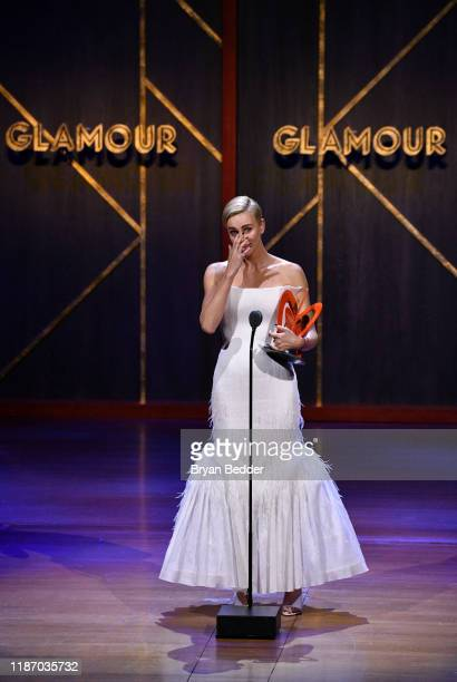 Charlize Theron speaks onstage at the 2019 Glamour Women Of The Year Awards at Alice Tully Hall on November 11, 2019 in New York City.