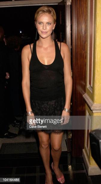Charlize Theron, 'The Italian Job' Premiere Party At 5 Cavendish Square, London