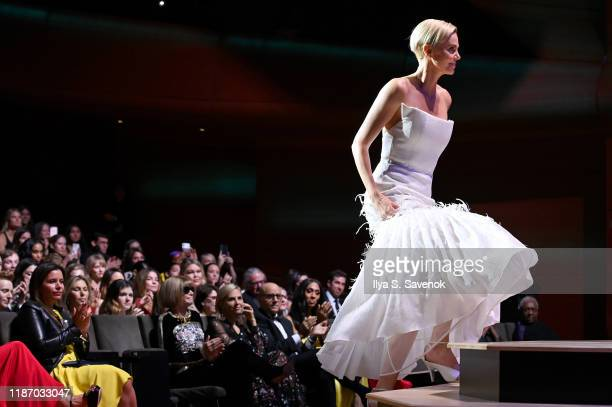 Charlize Theron walks onstage at the 2019 Glamour Women Of The Year Awards at Alice Tully Hall on November 11, 2019 in New York City.