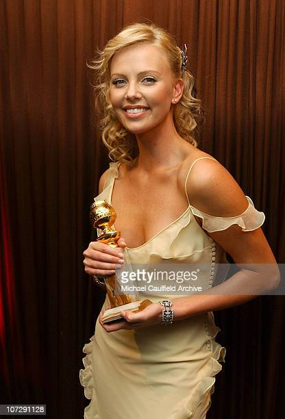 Charlize Theron winner of Best Performance by an Actress in a Motion Picture Drama for Monster