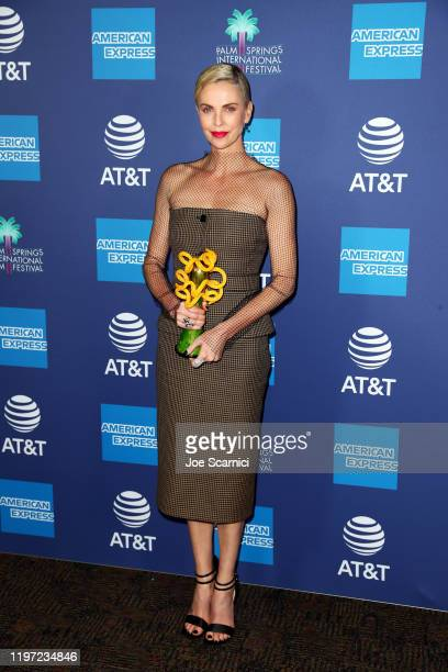 Charlize Theron winner of the International Star Award attends the 31st Annual Palm Springs International Film Festival Film Awards Gala at Palm...