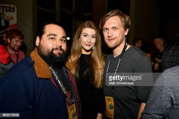 Charlot Daysh and Brigt Skrettingland attend the 2018 Mammoth Lakes Film Festival on May 26 2018 in Mammoth Lakes California