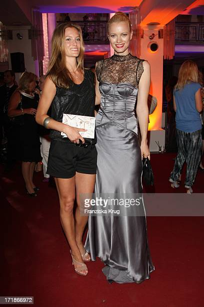 Charlott Cordes and Franziska Knuppe at the Michalsky Party In The Mercedes Benz Fashion Week in Berlin