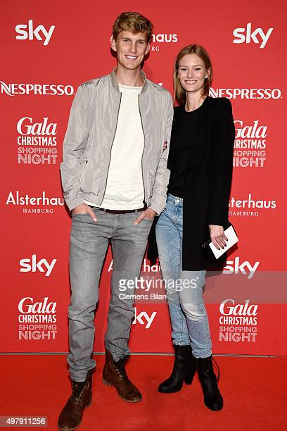 Charlott Cordes and her brother attend GALA Christmas Shopping Night 2015 at Alsterhaus on November 19 2015 in Hamburg Germany