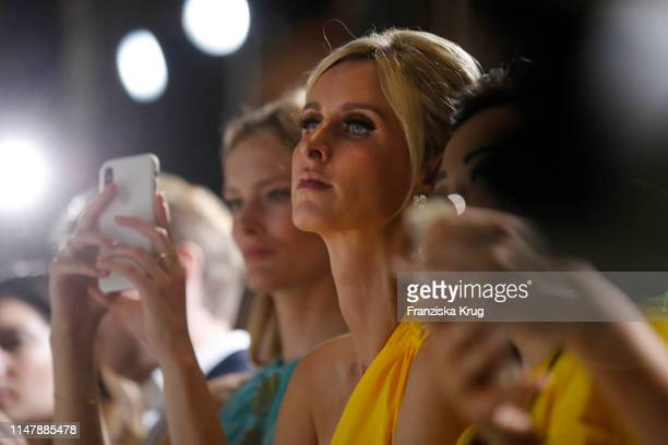 Charlott Cordes and Nicky Hilton Rothschild at the Max Mara Resort 2020 Fashion Show at Neues Museum on June 3 2019 in Berlin Germany