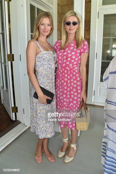 Charlott Cordes and Nicky Hilton Rothschild attend A Maison de Mode Summer Fete hosted by Amanda Hearst at Private Residence on August 25 2018 in...