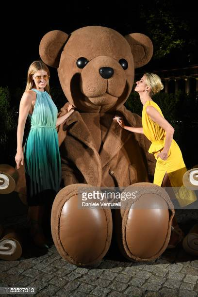 Charlott Cordes and Nicky Hilton wearing Max Mara attend a dinner after the Max Mara Resort 2020 Fashion Show at Neues Museum on June 03 2019 in...