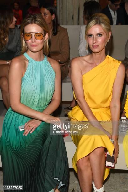 Charlott Cordes and Nicky Hilton wearing Max Mara attend the Max Mara Resort 2020 Fashion Show at Neues Museum on June 03 2019 in Berlin Germany