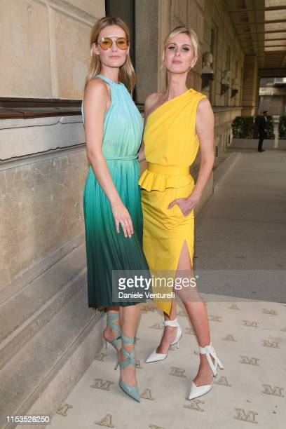 Charlott Cordes and Nicky Hilton wearing Max Mara attends the Max Mara Resort 2020 Fashion Show at Neues Museum on June 03 2019 in Berlin Germany