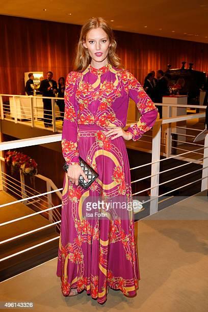 Charlott Cordes attend the 22nd Opera Gala at Deutsche Oper Berlin on November 7 2015 in Berlin Germany