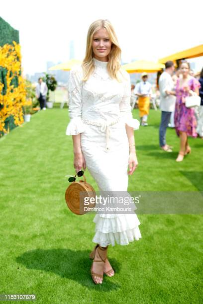 Charlott Cordes attends the 12th Annual Veuve Clicquot Polo Classic at Liberty State Park on June 01 2019 in Jersey City New Jersey