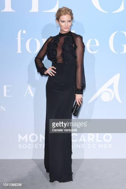 Charlott Cordes attends the Gala for the Global Ocean hosted by HSH Prince Albert II of Monaco at Opera of MonteCarlo on September 26 2018 in...